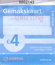 Communication of the city: Den Haag (Holandia) - ticket abverse