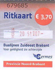 Communication of the city: Eindhoven (Holandia) - ticket abverse