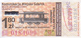 Communication of the city: Gdańsk (Polska) - ticket abverse