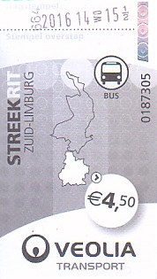 Communication of the city: Maastricht (Holandia) - ticket abverse